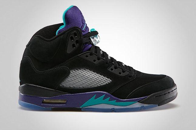 Air Jordan 5 Black Grape Profile 1