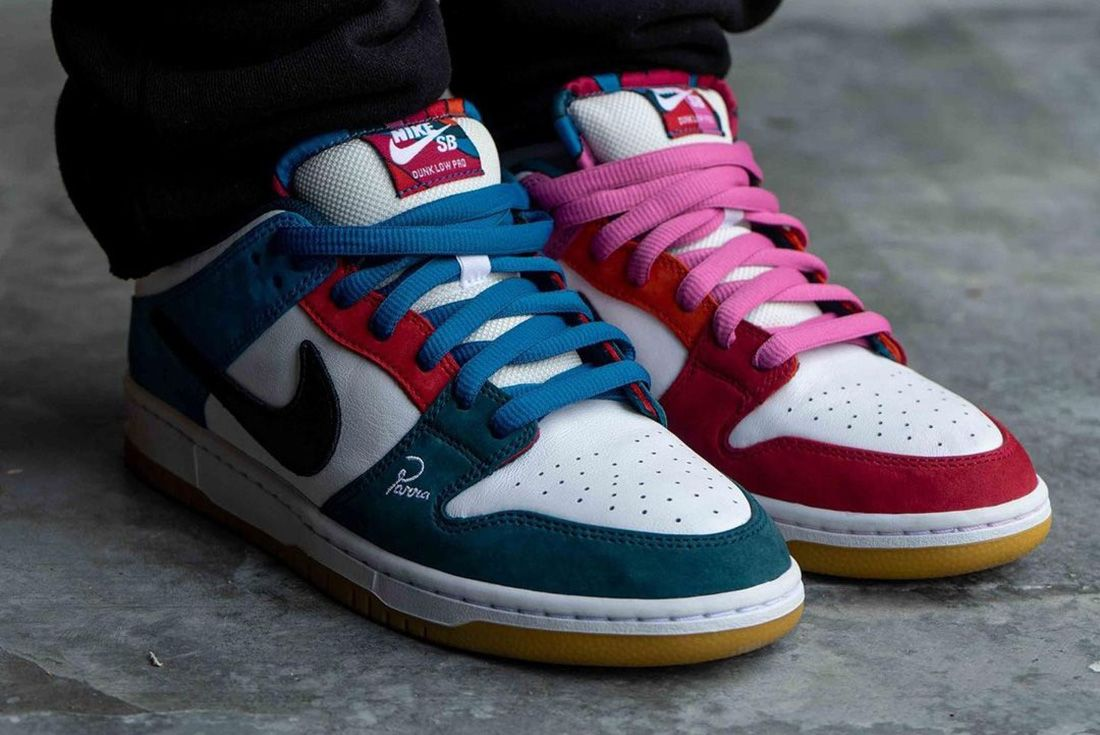 Parra x Nike SB Dunk Low 'Friends and Family' on foot