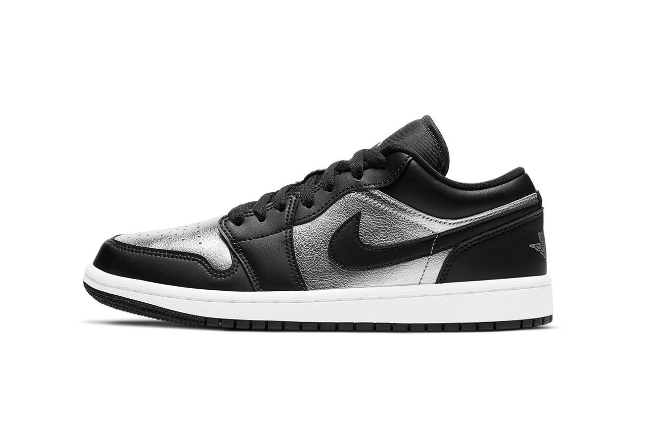 Air Jordan 1 Low Metallic Silver