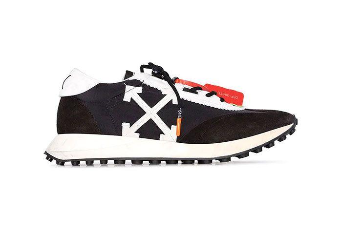Off White Running Sneaker1 Side