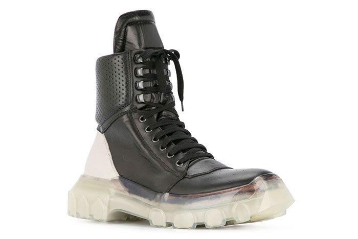 Rick Owens Tractor Dunk Boots Black White Release 1 Sneaker Freaker2