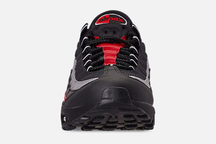 Nike Air Max 95 Black Red Silver Toe