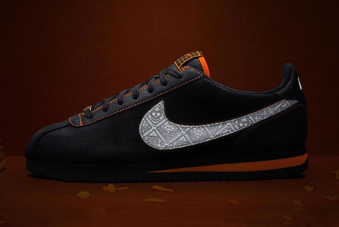 Nike Day Of The Dead Cortez Lateral Side Dark