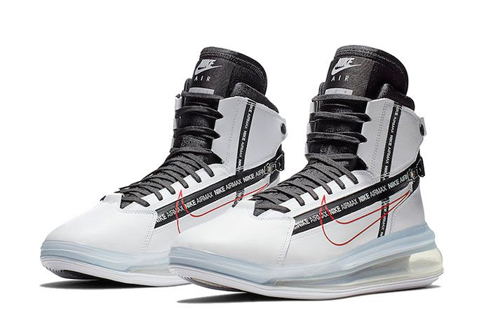 Nike Air Max 720 Saturn White Black University Red Quarter