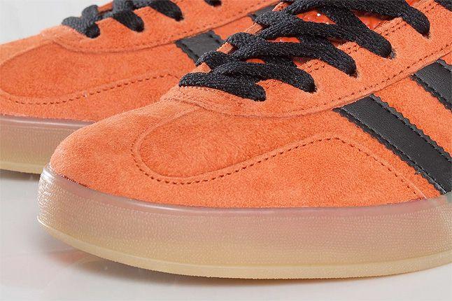 Orange Adidas Gazelle Indoor Toebox 1
