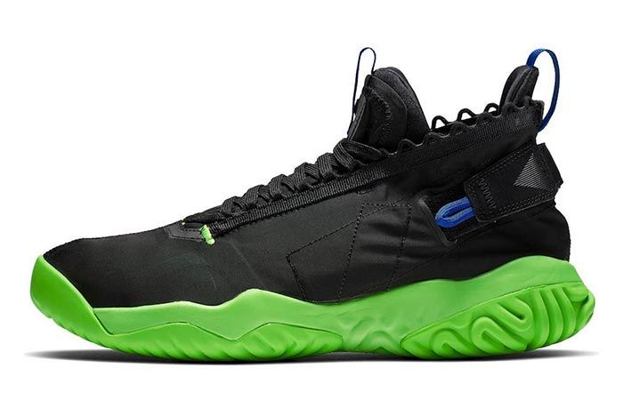 Jordan Proto React Black Green Release Three Quarter Lateralshot