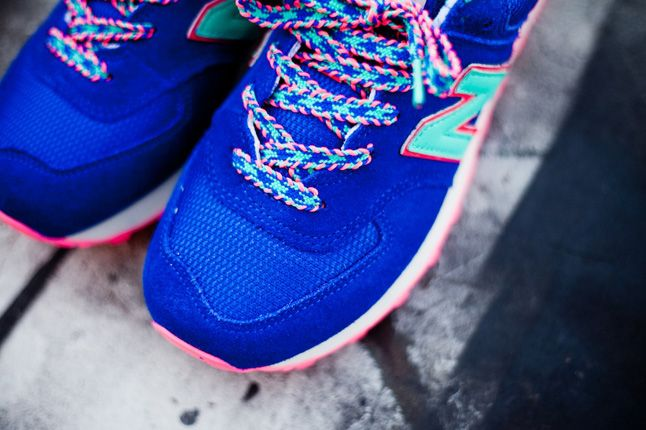 New Balance 574 Blue Candy Toe Details 1