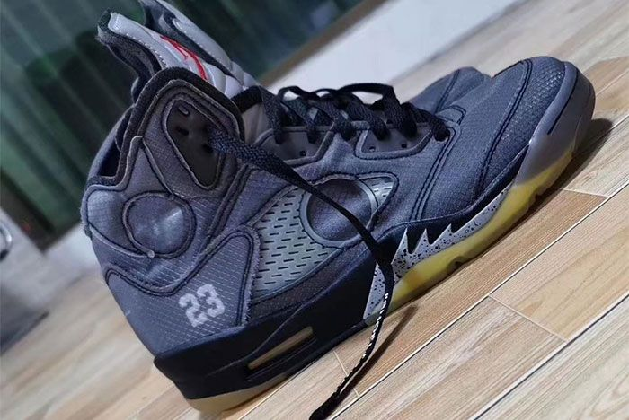 Air Jordan 5 Off White Close 2