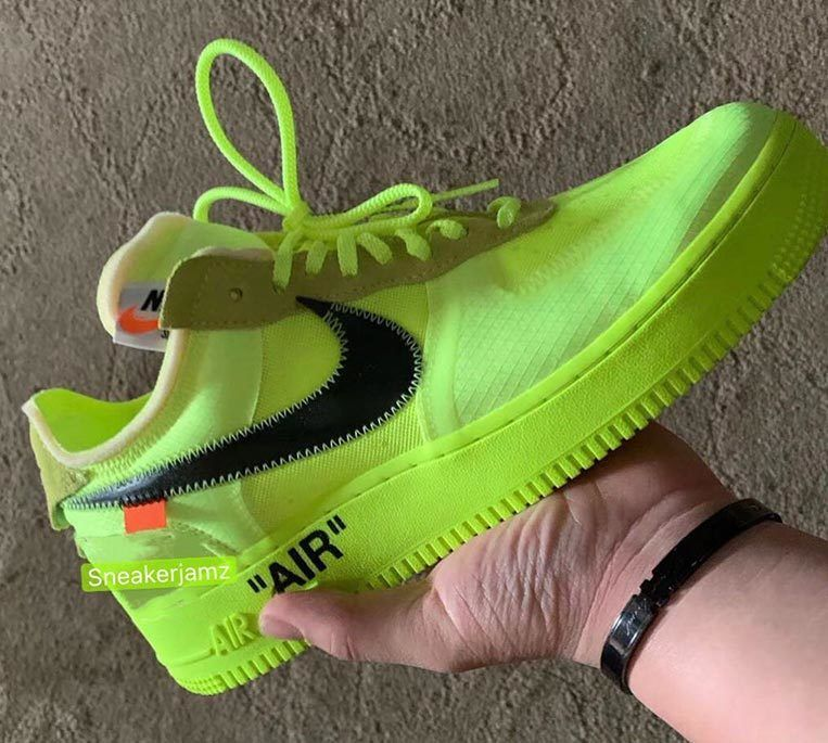 Off White Nike Air Force 1 Volt 1