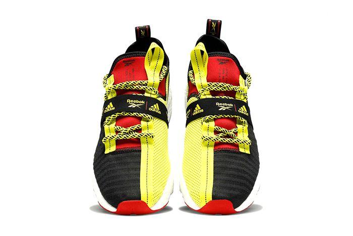 Adidas Reebok Sole Fury Boost Black Hyper Green Red Fw0167 Release Date Top Down
