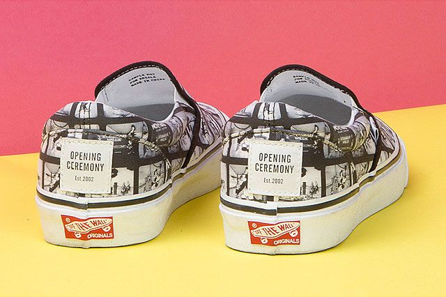 Mickey Mouse X Opening Ceremony X Vans Steamboat Willie Heel