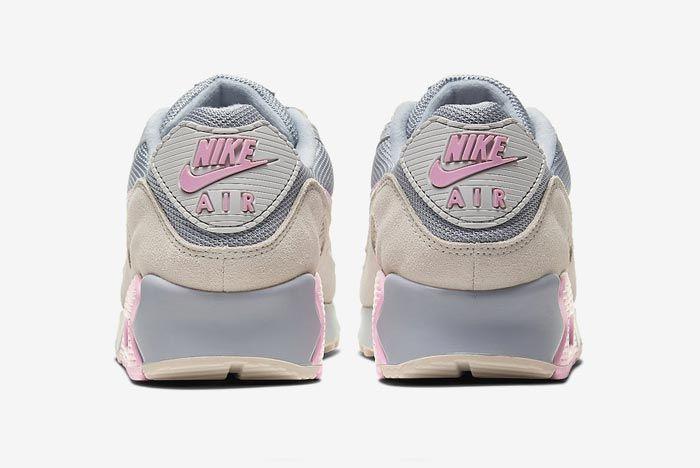 Nike Air Max 90 Grey Grey Pink Heels