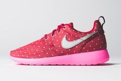 Nike Roshe Run Print Red Metallic Silver Thumb
