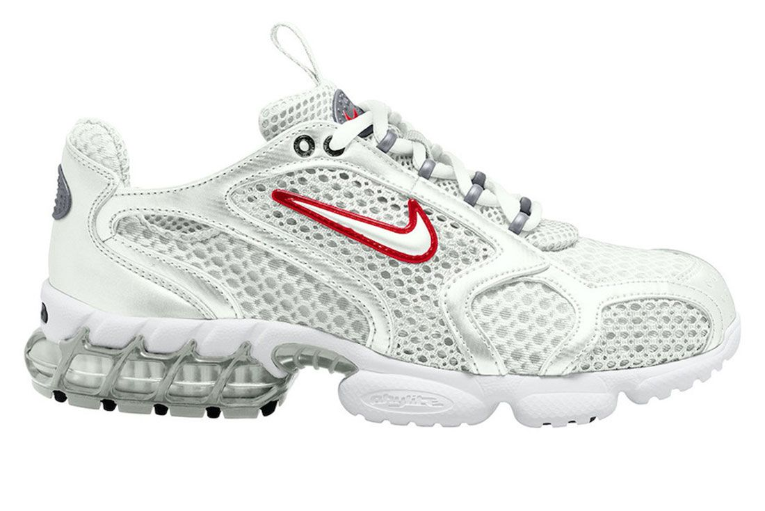 Nike Zoom Spiridon Cage 2 White Red Lateral