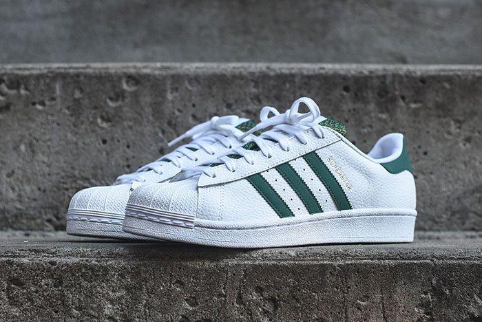 Adidas Superstar White Green Mesh 5