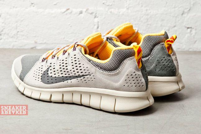 Nike Free Powerlines Ii Lthr Grey Laser Orange 4