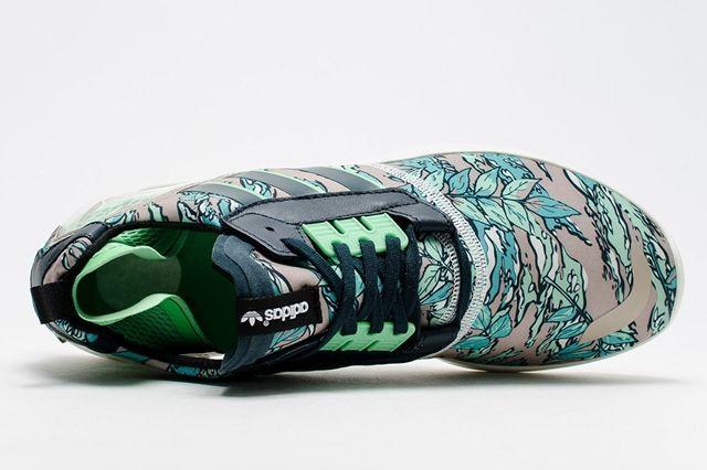 Adidas Zx 8000 Boost Hawaiian Floral Green 4