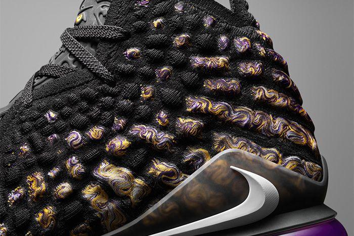 Nike Lebron 17 Lakers Release Date Closeup