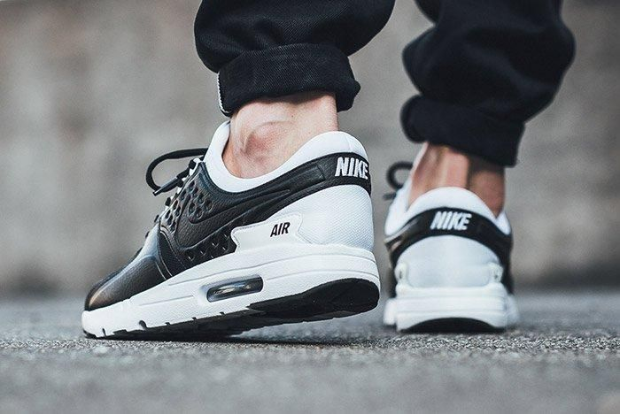 Nike Air Max Zero Premium Leather Black White 1