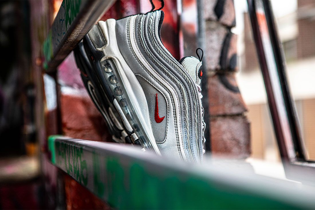 Nike Air Max 97 Silver Bullet Graffiti Right Mid