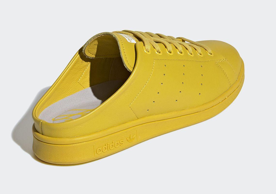 adidas Stan Smith Mule Tribe Yellow Heel