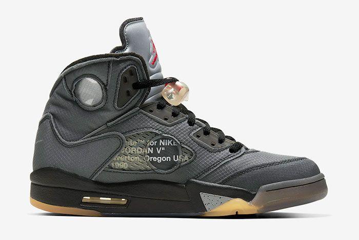 Off White Air Jordan 5 Ct8480 001 Medial Side Shot