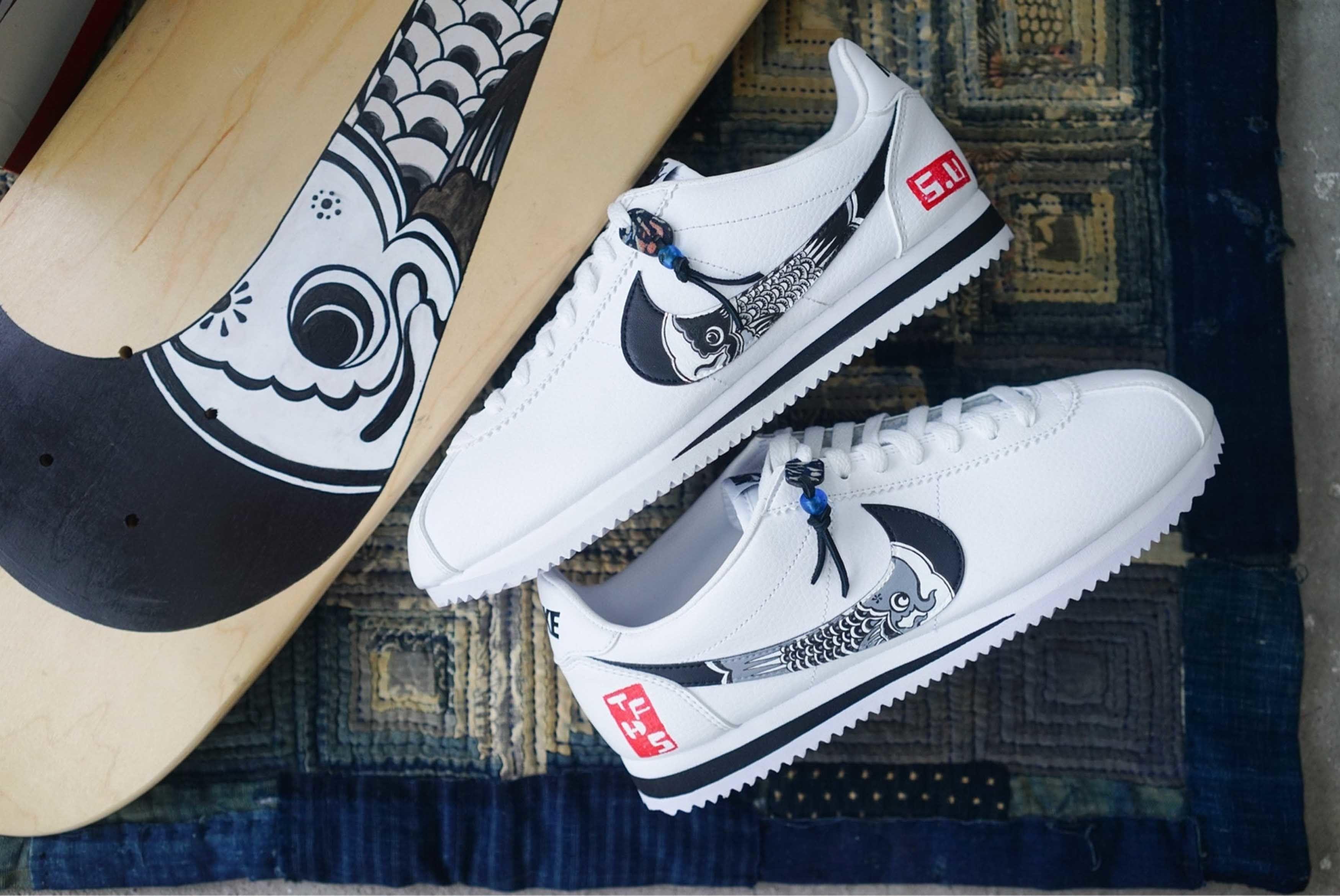Nike Cortez Simple Union The Flying Hawk Studio Custom 1 Sneaker Freaker