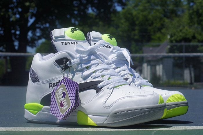 Reebok Court Victory Pump White Black Solar Yellow 6