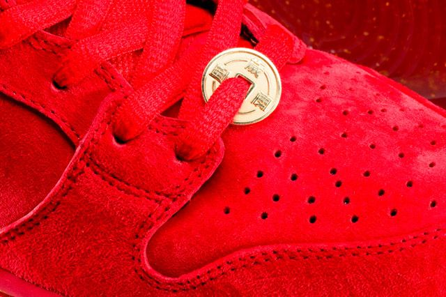 Nike Dunk High Premium Sb Red Laces