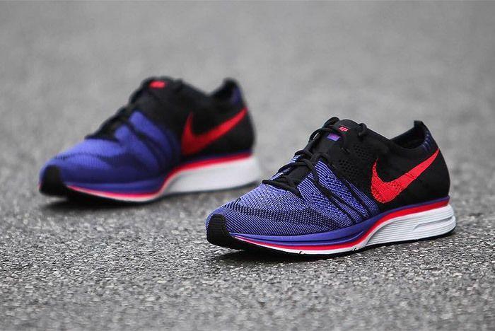 Nike Flyknit Trainer Red Purple Black 5