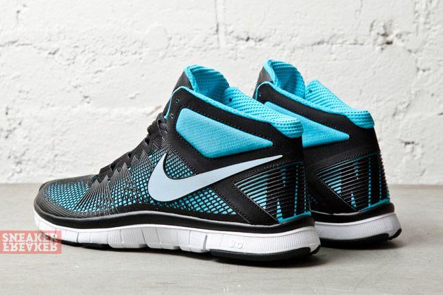Nike Free Trainer 3 0 Mid Black Light Armory Blue 1