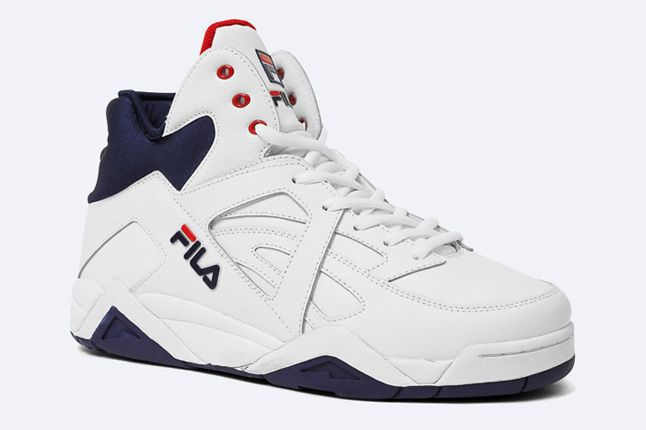 The Cage By Fila White Peacoat Red 2 1