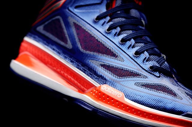 Adidas Adizero Crazy Light 3 Bright Indigo Midfoot Detail
