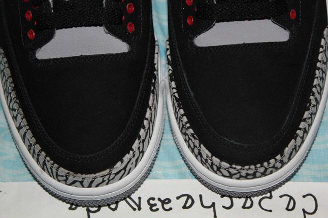 Air Jordan 3 Black Cement Suede Sample 09 1