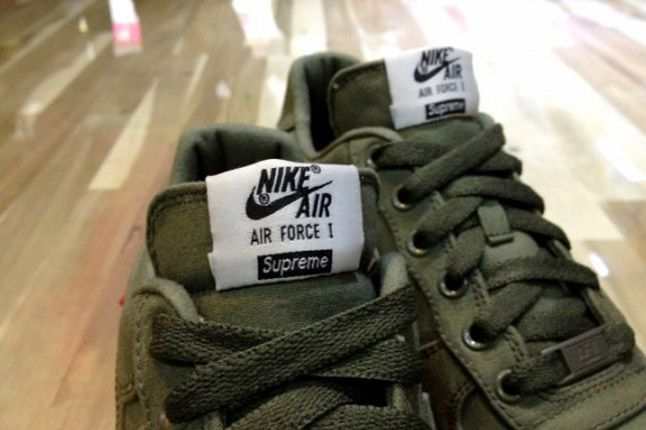 Supreme X Nike Air Force 1 Low Olive Tongues 1
