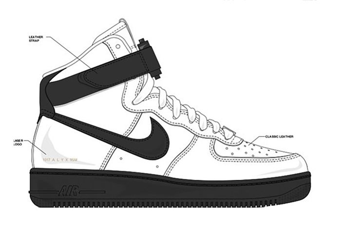 Alyx Nike Air Force 1 High White Black 2020 Release Date Lateral