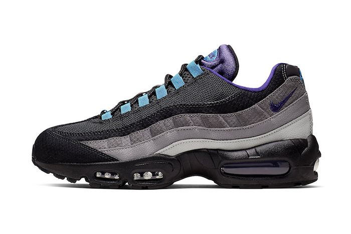 Nike Air Max 95 Black Grape Black Court Purple Teal Nebula Ao2450 002 Release Date Lateral