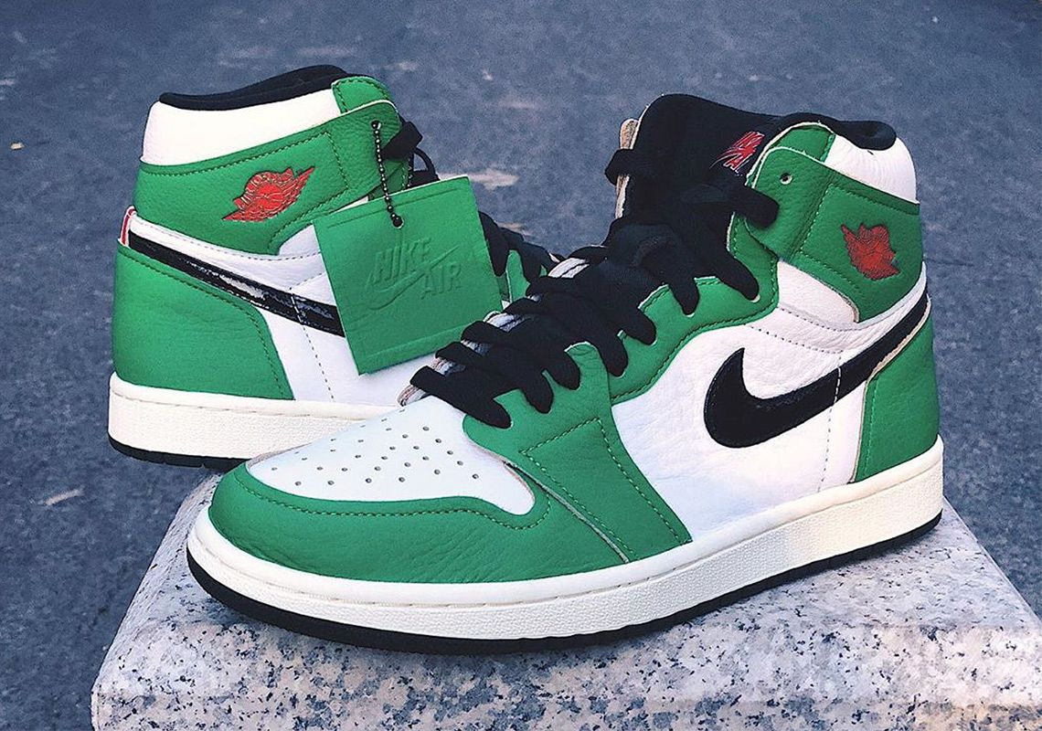 lucky green jordan 1
