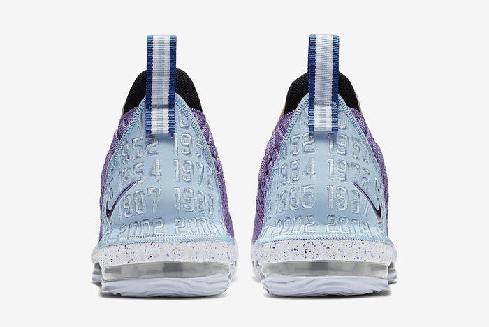 Nike Lebron 16 Lakers Heritage Heels