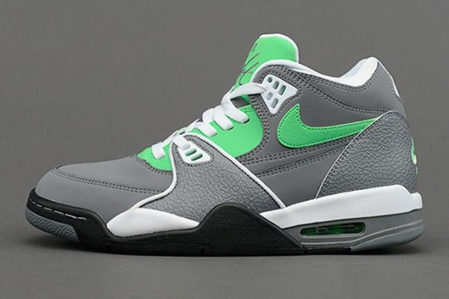 Nike Air Flight 89 Clgrey Poisongrn Profile 1