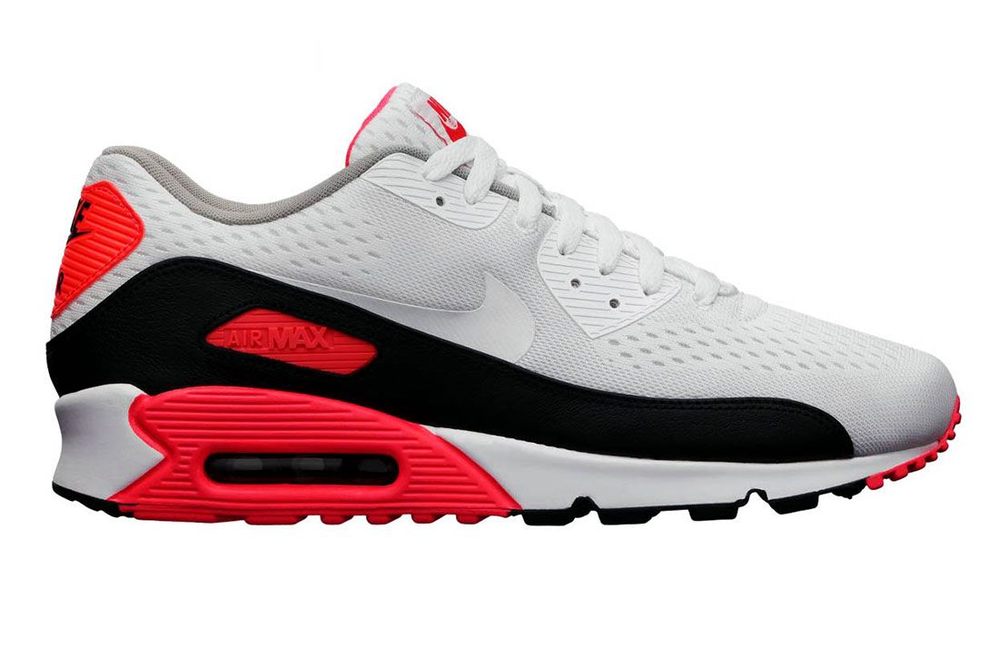 Nike Air Max 90 Infrared Engineered Mesh Lateral Side Shot