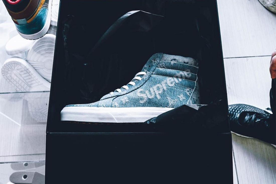 Supreme X Louis Vuitton Vans Sk8 Hi 3