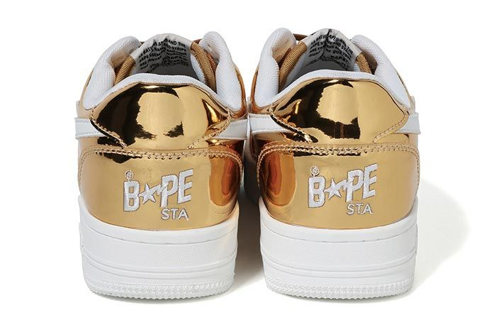 Bapesta Gold Heel Shot