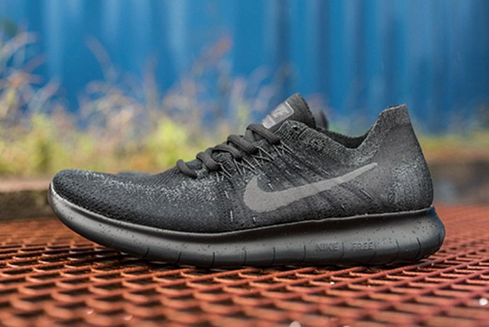 Nike Free Run Flyknit 2017 Triple Blackthumb