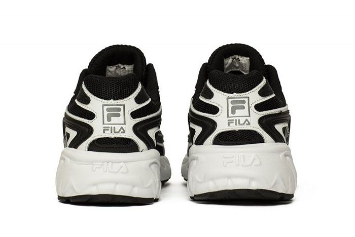 Fila Creator Black White Silver Heels