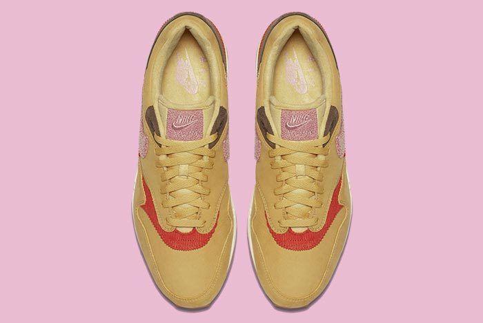 Nike Air Max 1 Corduroy Wheat Gold Rust Pink Baroque Brown 5