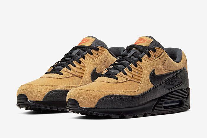 Nike Air Max 90 Wheat Suede Toe