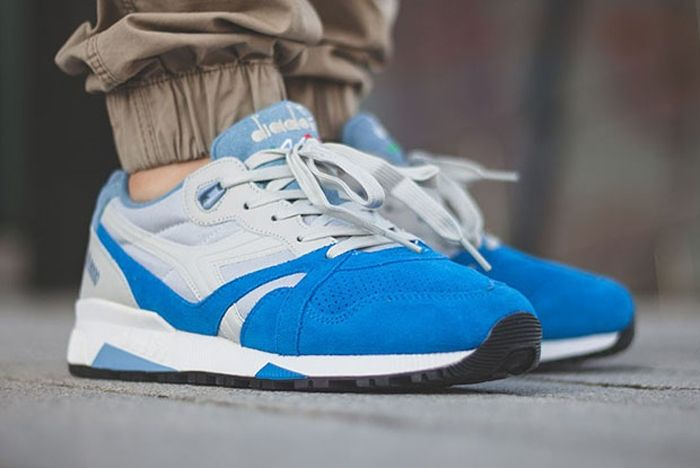 Diadora N9000 Grey Skydiver Blue 1