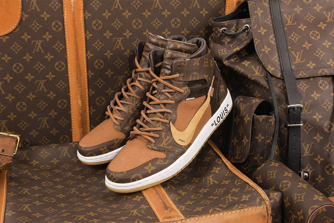 Off White X Louis Vuitton Off Louis Air Jordan 1 Custom 15