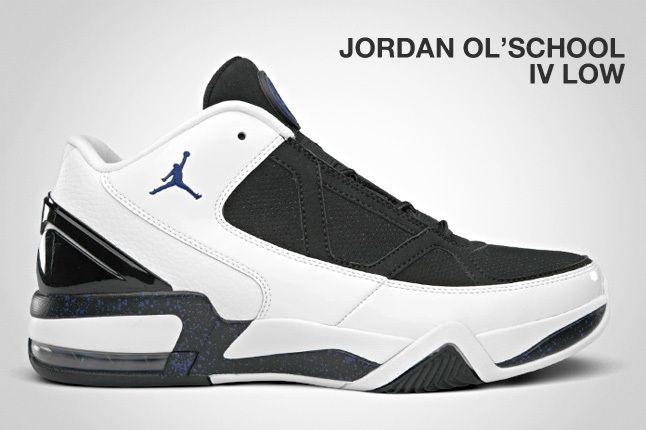 Jordan Ol School Iv Low Black White 1